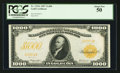 Large Size:Gold Certificates, Fr. 1219e $1000 1907 Gold Certificate PCGS About New 50.. ...