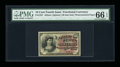 Fractional Currency:Fourth Issue, Fr. 1257 10c Fourth Issue PMG Gem Uncirculated 66 EPQ....