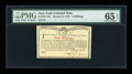Colonial Notes:New York, New York January 6, 1776 (Water Works) 4s PMG Gem Uncirculated 65 EPQ....