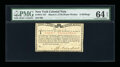 Colonial Notes:New York, New York March 5,1776 (Water Works) 8s PMG Choice Uncirculated 64EPQ....