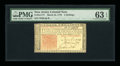 Colonial Notes:New Jersey, New Jersey March 25, 1776 3s PMG Choice Uncirculated 63 EPQ....