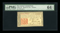 Colonial Notes:New Jersey, New Jersey March 25, 1776 18d PMG Choice Uncirculated 64 EPQ....