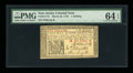 Colonial Notes:New Jersey, New Jersey March 25, 1776 1s PMG Choice Uncirculated 64 EPQ....