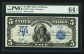 Large Size:Silver Certificates, Fr. 276 $5 1899 Silver Certificate PMG Choice Uncirculated 64 Net.....