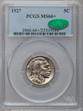 Buffalo Nickels, 1927 5C MS66+ PCGS. CAC....