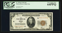 Fr. 1870-K $20 1929 Federal Reserve Bank Note. PCGS Very Choice New 64PPQ