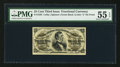 Fractional Currency:Third Issue, Fr. 1295 25¢ Third Issue PMG About Uncirculated 55 EPQ.. ...