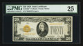 Small Size, Fr. 2402* $20 1928 Gold Certificate. PMG Very Fine 25.. ...