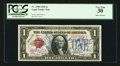 "Small Size:Legal Tender Notes, ""Short Snorter"" Fr. 1500 $1 1928 Legal Tender Note. PCGS Very Fine 30.. ..."