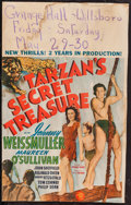 "Movie Posters:Adventure, Tarzan's Secret Treasure (MGM, 1941). Window Card (14"" X 22"").Adventure.. ..."