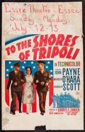 """Movie Posters:War, To the Shores of Tripoli (20th Century Fox, 1942). Window Card (14""""X 22""""). War.. ..."""