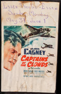 """Movie Posters:War, Captains of the Clouds (Warner Brothers, 1942). Window Card (14"""" X22""""). War.. ..."""