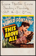 """Movie Posters:War, This Above All (20th Century Fox, 1942). Window Card (14"""" X 22"""").War.. ..."""
