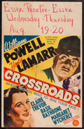 "Movie Posters:Mystery, Crossroads (MGM, 1942). Window Card (14"" X 22""). Mystery.. ..."