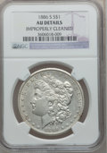 Morgan Dollars: , 1886-S $1 -- Improperly Cleaned -- NGC Details. AU. NGC Census:(44/3274). PCGS Population (126/5264). Mintage: 750,000. Nu...