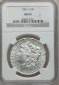 Morgan Dollars: , 1886-O $1 AU55 NGC. NGC Census: (745/2759). PCGS Population(747/2787). Mintage: 10,710,000. Numismedia Wsl. Price for prob...