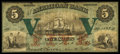 Obsoletes By State:Maryland, Baltimore, MD- American Bank $5 Dec. 1, 1863 G2b Shank 5.2.6. ...