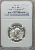 Standing Liberty Quarters: , 1918 25C -- Improperly Cleaned -- NGC Details. AU. NGC Census:(6/392). PCGS Population (15/543). Mintage: 14,240,000. Numi...