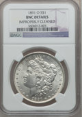 Morgan Dollars: , 1891-O $1 -- Improperly Cleaned -- NGC Details. UNC. NGC Census:(55/3678). PCGS Population (61/4888). Mintage: 7,954,529. ...