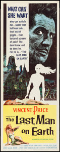 "Movie Posters:Science Fiction, The Last Man on Earth (American International, 1964). Insert (14"" X36""). Science Fiction.. ..."