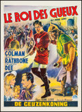 "Movie Posters:Adventure, If I Were King & Other Lot (Paramount, R-1955). Belgians (2)(12.25"" X 20.5"" & 14"" X 19.25""). Adventure.. ... (Total: 2Items)"