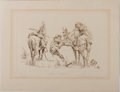 """Books:Art & Architecture, Barry Euren. Limited Edition Etching Titled, """"Darn Mule."""" 1976. Number 34 of 250 copies signed by the artist. Fine condi..."""