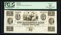 Obsoletes By State:Ohio, Manhattan, OH- The Manhattan Bank $3 G36 Wolka 1532-09 Proof. ...