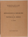 Books:Americana & American History, S. Linne. Archaeological Researches at Teotihuacan, Mexico. Oxford University Press, 1934. First edition. Mild s...