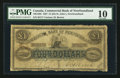 Canadian Currency: , Saint Johns, NF- Commercial Bank of Newfoundland £1/($4) Jan. 1,1867 Ch # 185-12-02. ...