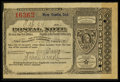 Miscellaneous:Other, New Castle, IN- Postal Note Type V 2¢ Feb. 24, 1894. ...