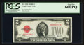 Small Size:Legal Tender Notes, Fr. 1503 $2 1928B Legal Tender Note. PCGS Gem New 66PPQ.. ...