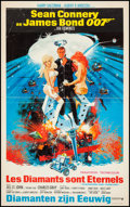 "Movie Posters:James Bond, Diamonds are Forever (United Artists, 1971). Belgian (14.5"" X23.25""). James Bond.. ..."