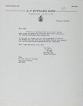 Autographs:Authors, William Targ, American Book Editor. Typed Letter Signed. Fine....