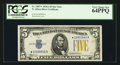 Fr. 2307* $5 1934A North Africa Silver Certificate. PCGS Very Choice New 64PPQ