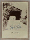 Autographs:Authors, Joseph Heller, American Author. Signed Bookplate. Fine....