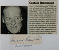 Autographs:Authors, Gerard Fairlie, British Author of the Bulldog Drummond Novels. Clipped Signature. Very good....