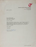 Autographs:Non-American, Tyrone Guthrie, British Theatrical Director. Typed Letter Signed.Very good....