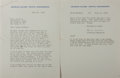 Autographs:Authors, Archibald MacLeish, American Poet. Typed Letter Signed. Two pages with envelope. Very good....