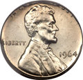 Errors, 1964 1C Lincoln Cent -- Struck on a Silver Dime Planchet -- MS62 PCGS....