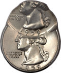 Errors, 1959-? Washington Quarter -- Double Struck, Second Strike 60% OffCenter -- MS63 PCGS....