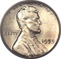 Errors, 1959 Lincoln Cent -- Struck on a Silver Dime Planchet -- MS64 PCGS....