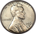 Errors, 1960-D 1C Small Date Lincoln Cent -- on a Silver Dime Planchet -- MS63 PCGS....