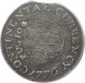 Colonials, 1776 $1 Continental Dollar, CURRENCY, Pewter PCGS Genuine. Newman2-C, W-8455, R.3....