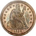 Proof Seated Dimes, 1856 10C Small Date PR64 PCGS. CAC....