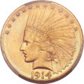Indian Eagles, 1914-D $10 MS64 PCGS....