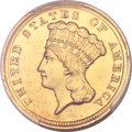 Three Dollar Gold Pieces, 1854-D $3 -- Altered Surfaces -- Genuine PCGS. AU Details....