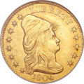 Early Quarter Eagles, 1806/4 $2 1/2 8x5 Stars AU50 ANACS. BD-1, High R.4....