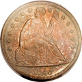 Seated Dollars, 1855 $1 MS61 PCGS. CAC....