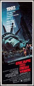 "Movie Posters:Science Fiction, Escape from New York (Avco Embassy, 1981). Insert (14"" X 36"").Science Fiction.. ..."