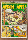 """Memorabilia:Comic-Related, Mad #6 """"Melvin of the Apes!"""" Complete Story Silverprint Group (EC, 1953).... (Total: 10 Items)"""